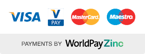 Payments by Worldpay Zinc, accepting Visa Vpay, Mastercard, Maestro